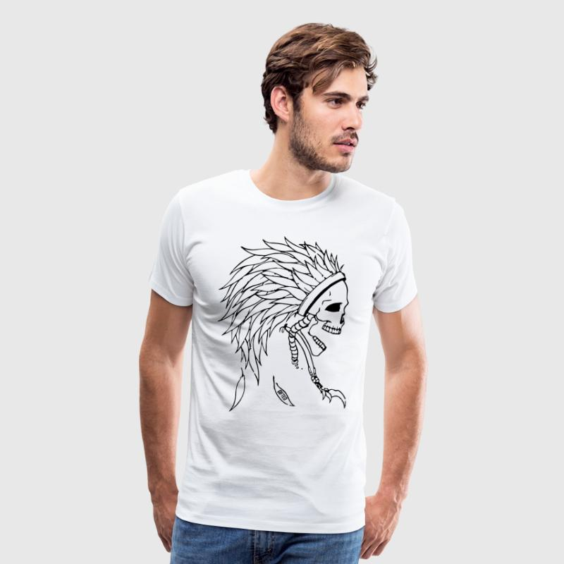Indian Skull Head T-Shirts - Men's Premium T-Shirt