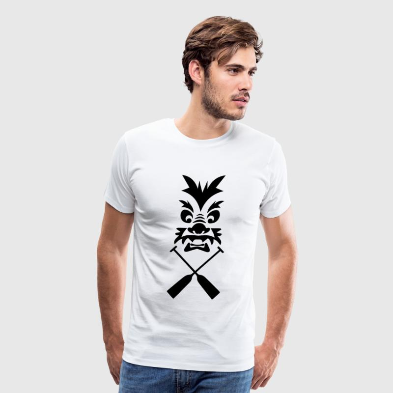 Dragon Tribal Dragonboat Paddle 1c T-Shirts - Men's Premium T-Shirt