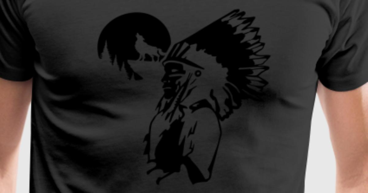 Indian Wolf T Shirt Spreadshirt