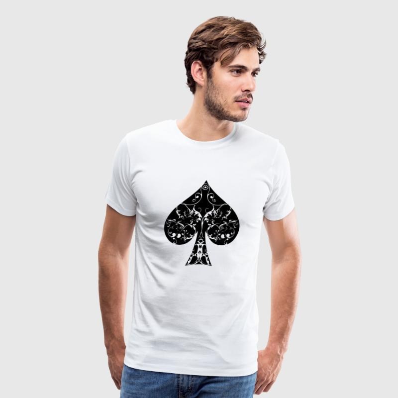 Ace of Spade floral tribal spades poker hold ´em T-Shirts - Men's Premium T-Shirt