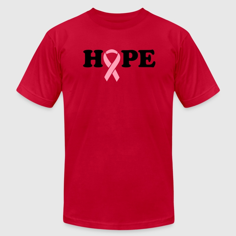 Hope. Breast Cancer Ribbon T-Shirts - Men's T-Shirt by American Apparel