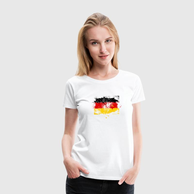 Germany German Deutschland Deutsch swag style flag Women's T-Shirts - Women's Premium T-Shirt