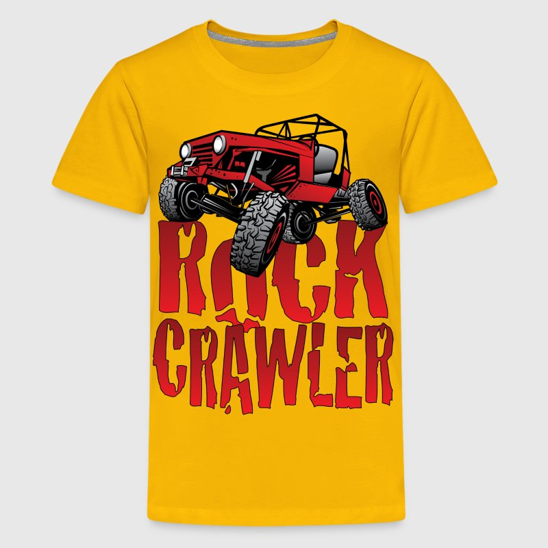 Red Jeep Rock Crawler Light Kids' Shirts - Kids' Premium T-Shirt