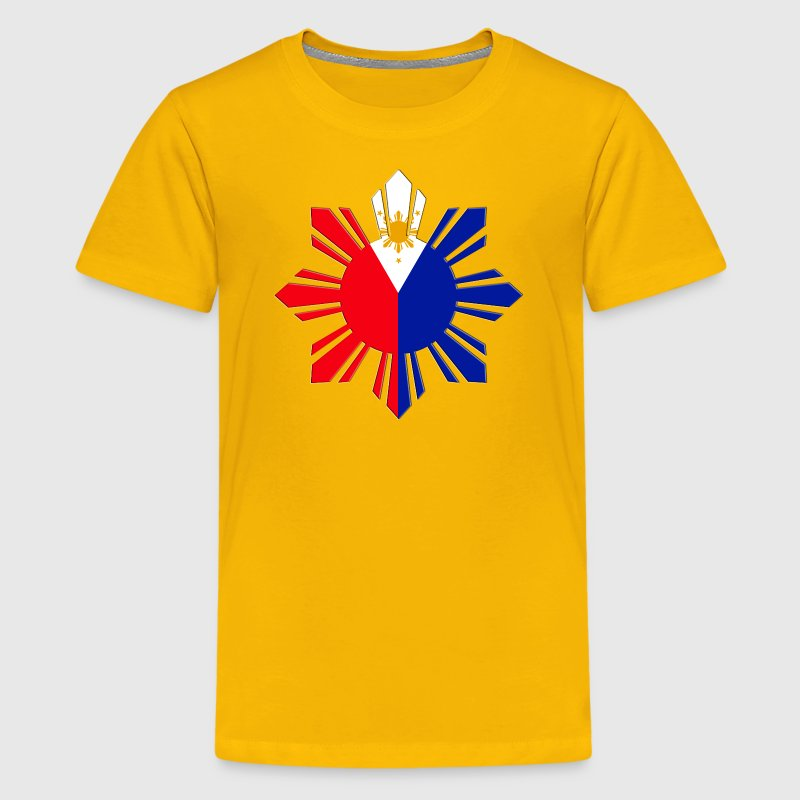 Pinoy Sun Flag Kids Filipino Tshirt - Kids' Premium T-Shirt