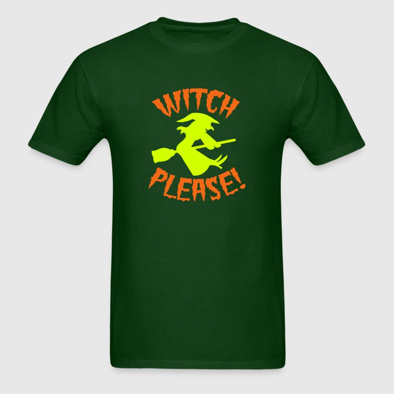 Witch please on a broomstick Halloween funny T-Shirts - Men's T-Shirt