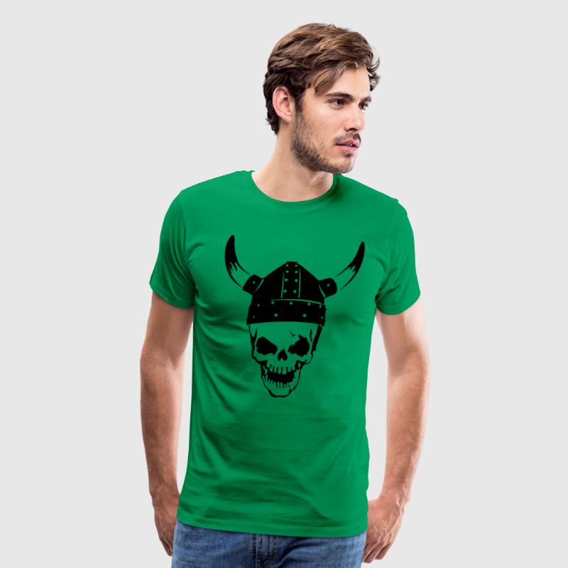 Skull with a viking helmet Shirt - Men's Premium T-Shirt