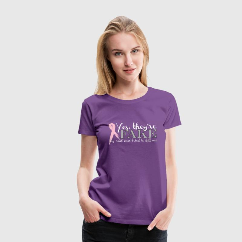 YES THEY'RE FAKE... Women's T-Shirts - Women's Premium T-Shirt