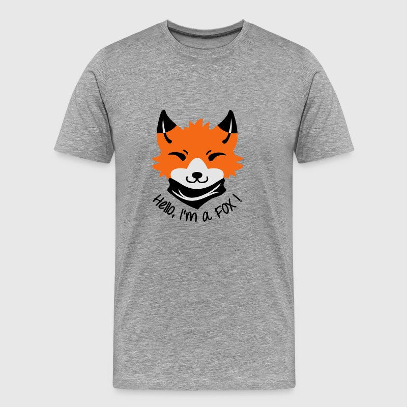 Chibi FOX with Types T-Shirts - Men's Premium T-Shirt