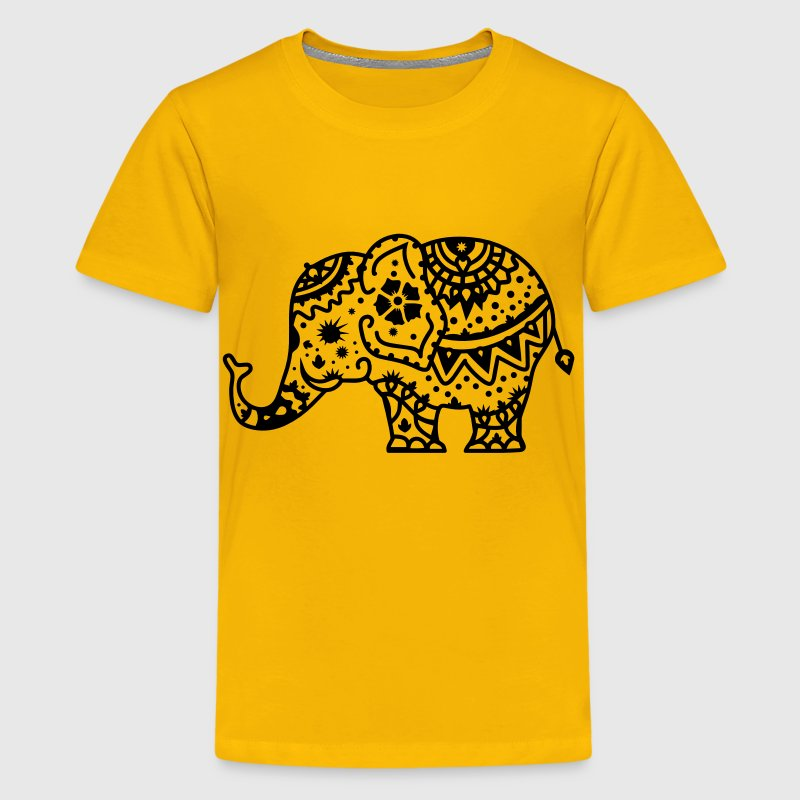 a decorated Indian elephant Kids' Shirts - Kids' Premium T-Shirt