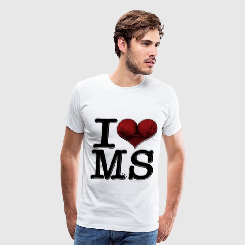 I Love MS - MilfS (for light-colored apparel) T-Shirts - Men's Premium T-Shirt