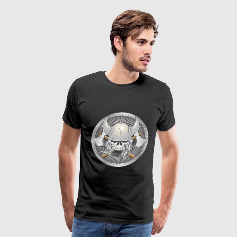 Viking Warrior Skull T-Shirts - Men's Premium T-Shirt