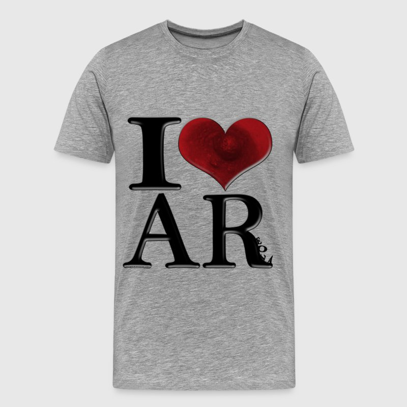 I Love AReola (for light-colored apparel) T-Shirts - Men's Premium T-Shirt