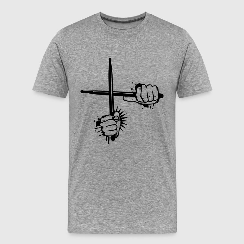 two crossed drumsticks T-Shirts - Men's Premium T-Shirt