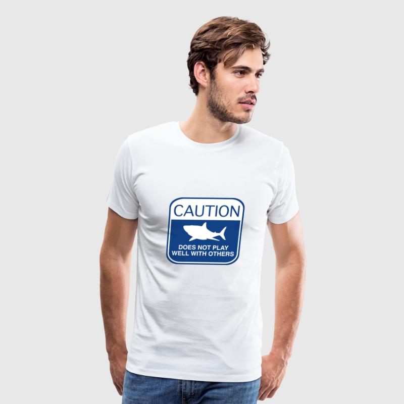 Caution - Does Not Play Well With Others - Men's Premium T-Shirt