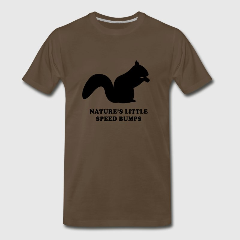 Squirrels. Nature little speed bumps T-Shirts - Men's Premium T-Shirt