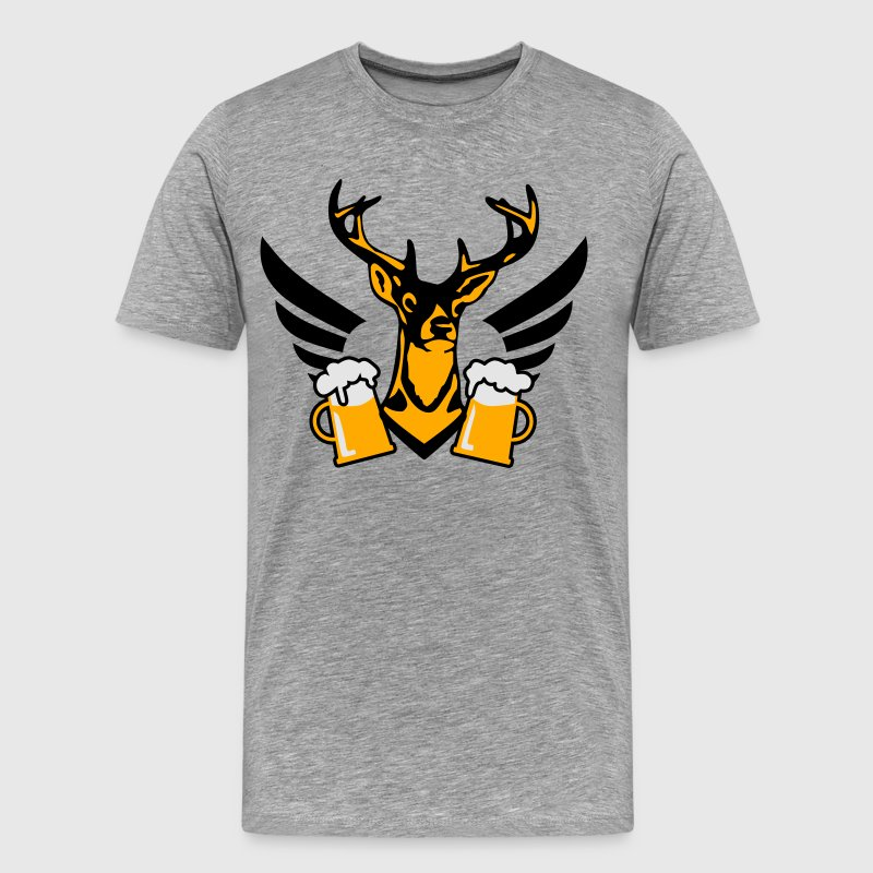 23 deer bachelor party fun funny love stag nigh  - Men's Premium T-Shirt