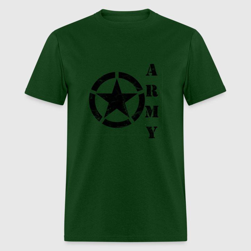 Wash worn army star t shirt spreadshirt for Built for war shirt