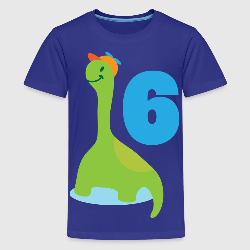 6th Birthday Dinosaur Kids' Shirts - Kids' Premium T-Shirt