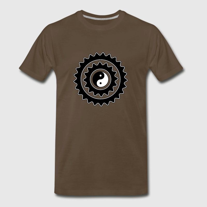 Bicycle Yin Yang Gears T-Shirt - Men's Premium T-Shirt