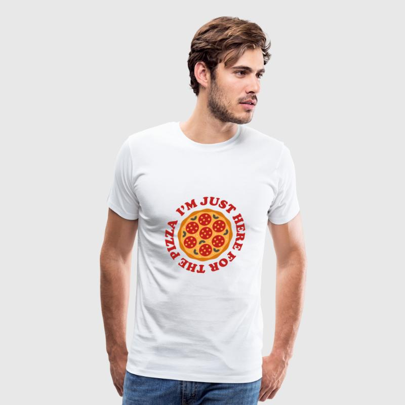 I'm Just Here For The Pizza - Men's Premium T-Shirt