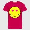Emoticon Smiley Face Heart Eyes Emoticon - Kids' Premium T-Shirt