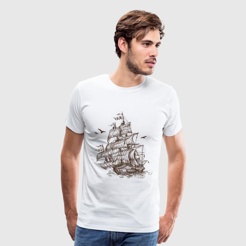ship at sea - Men's Premium T-Shirt