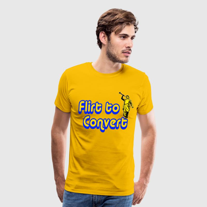 Yellow Flirt to Convert T-Shirts - Men's Premium T-Shirt
