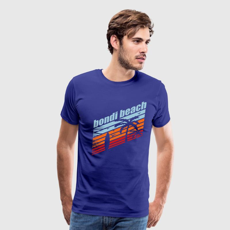 Royal blue BONDI BEACH T-Shirts - Men's Premium T-Shirt