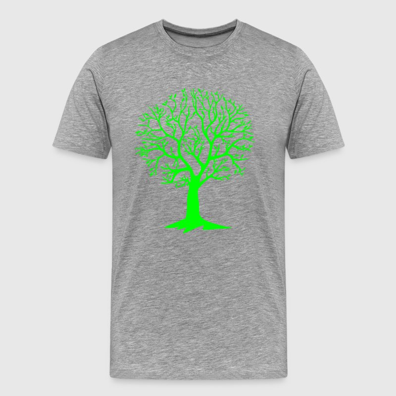 Heather grey environment tree circular T-Shirts - Men's Premium T-Shirt