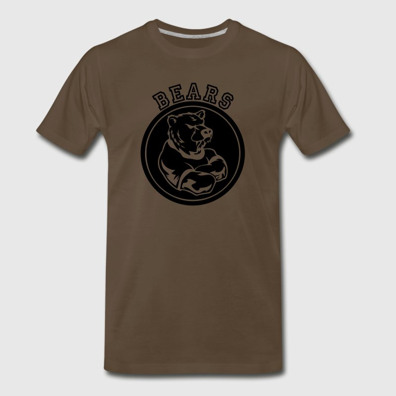 Brown Bear Custom Sports Mascot T-Shirts - Men's Premium T-Shirt