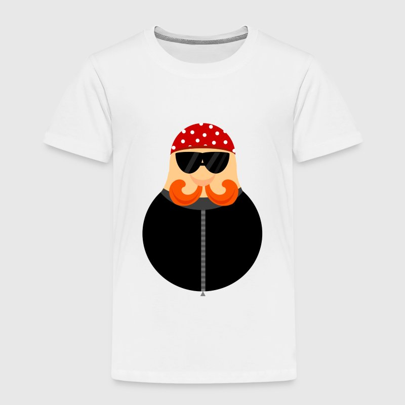 Biker Motorcycle Cartoon Toddler T-shirt - Toddler Premium T-Shirt