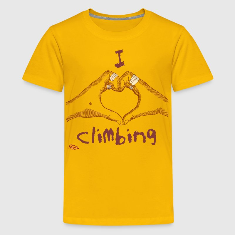 I love climbing Kid's - Kids' Premium T-Shirt