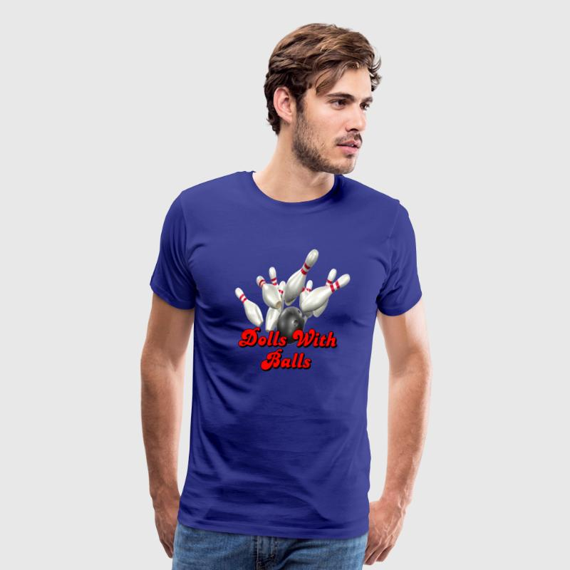 Royal blue Bowling Team Dolls With Balls T-Shirts - Men's Premium T-Shirt