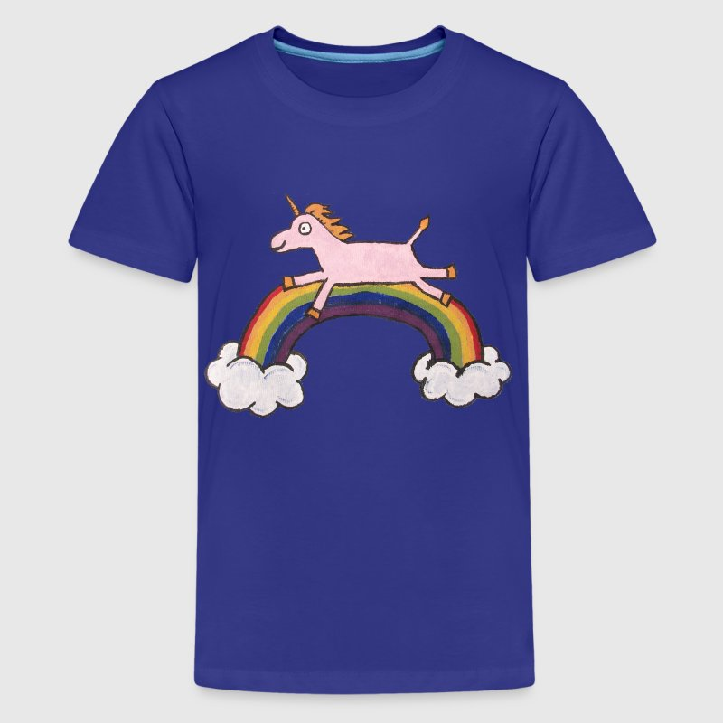 Kids Pink Unicorn - Kids' Premium T-Shirt