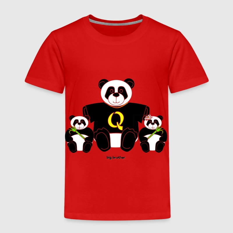 'Big Brother' Panda Toddler Tee - Toddler Premium T-Shirt