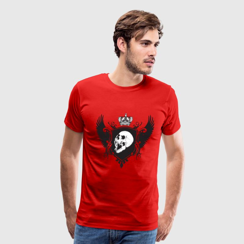 Red Skull and Wings T-Shirts - Men's Premium T-Shirt