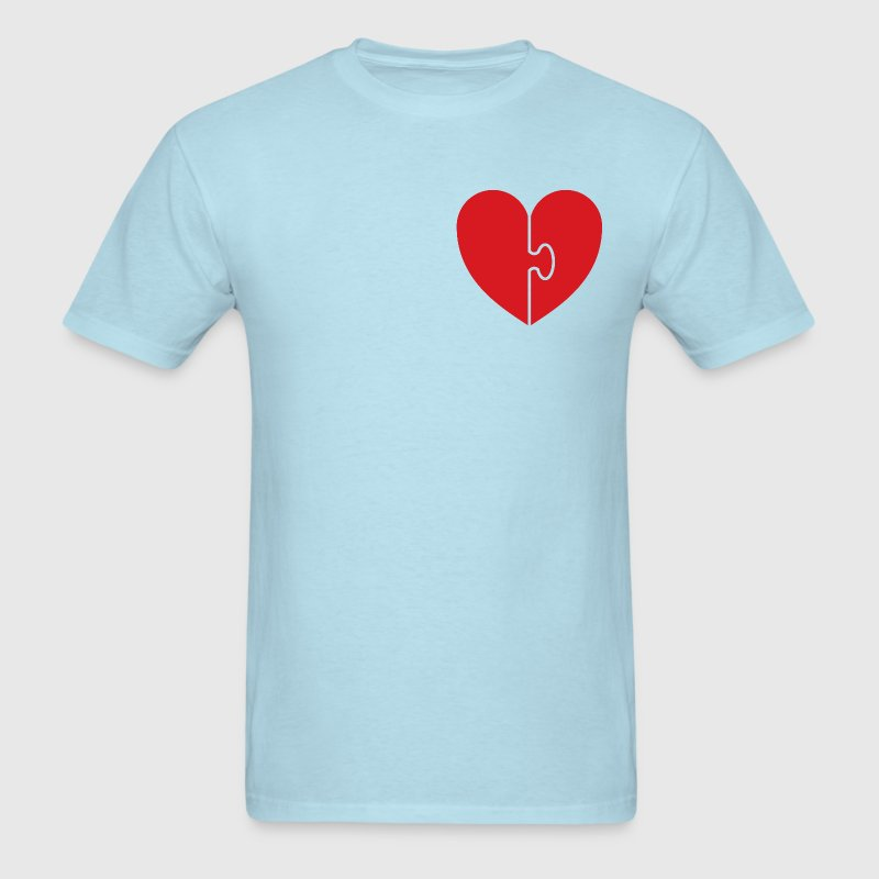 Sky blue heart puzzle T-Shirts - Men's T-Shirt