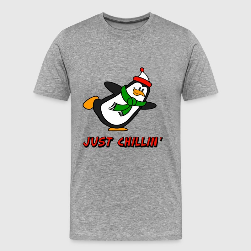 Just Chillin' Penguin Chilly Willy T-Shirts - Men's Premium T-Shirt