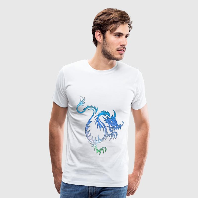 Chinese Blue Water Dragon - Men's Premium T-Shirt