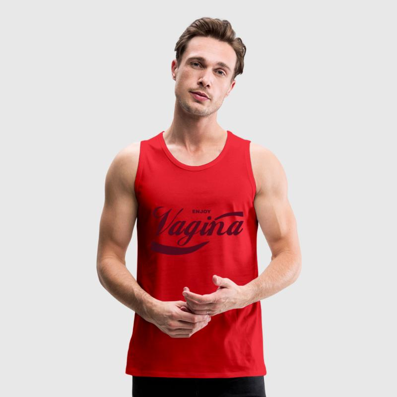 Enjoy Vagina Tank Top - Men's Premium Tank
