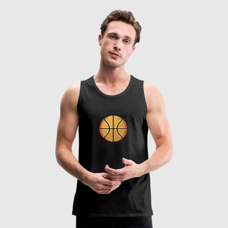Golden Basketball Tank Tops - Men's Premium Tank