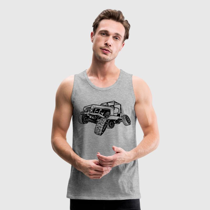 Monster Cool Jeep Tank Tops - Men's Premium Tank