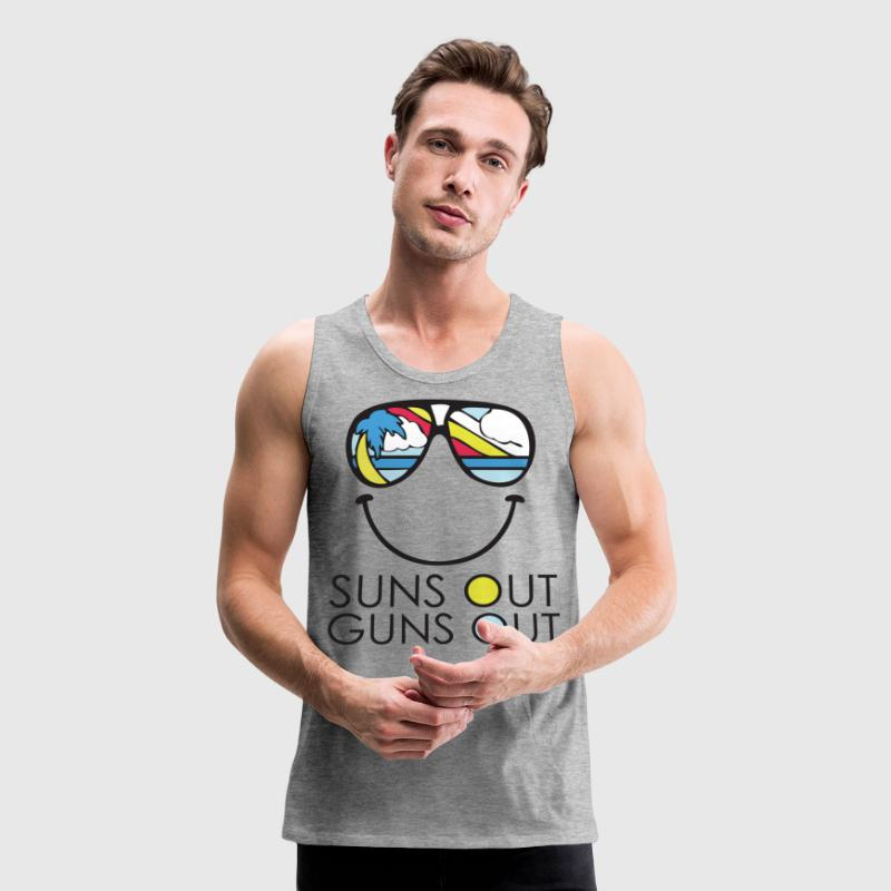 Suns Out Guns Out Shirt Bro Tank - Men's Premium Tank