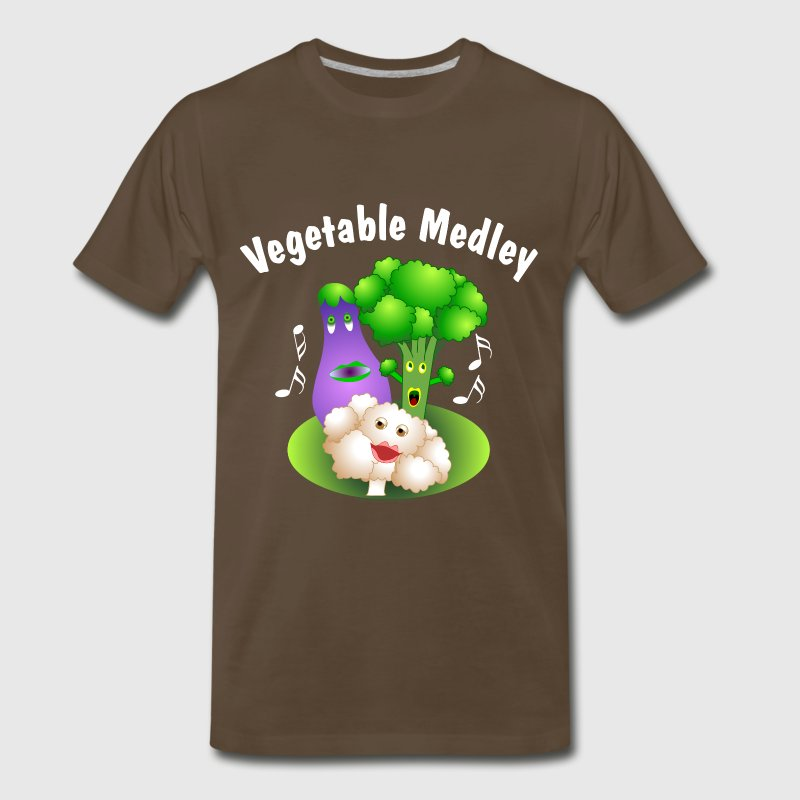 White Vegetable Medley T-Shirts - Men's Premium T-Shirt