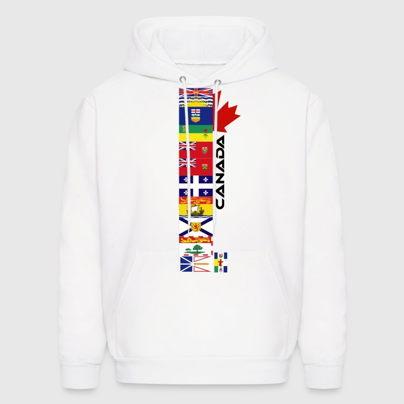 White Canadian Provinces Hoodies - Men's Hoodie
