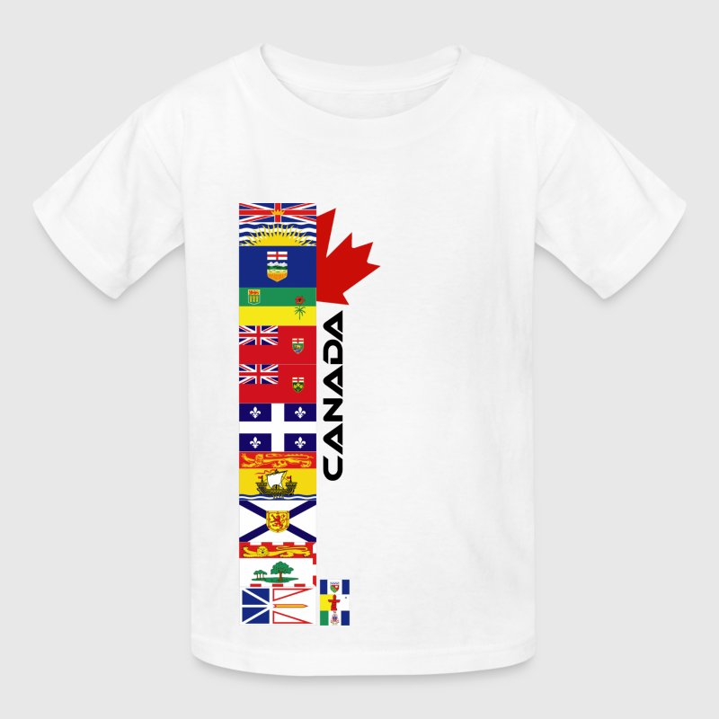 White Canadian Provinces Kids' Shirts - Kids' T-Shirt