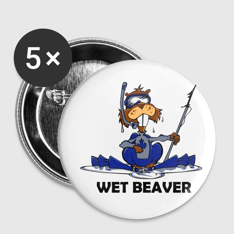 White Wet Beaver Accessories - Large Buttons