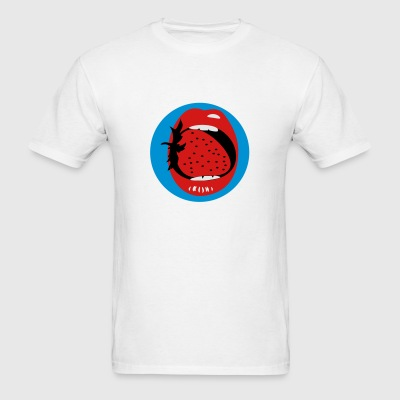 White strawberry mouth (b, 3c) Buttons - Men's T-Shirt