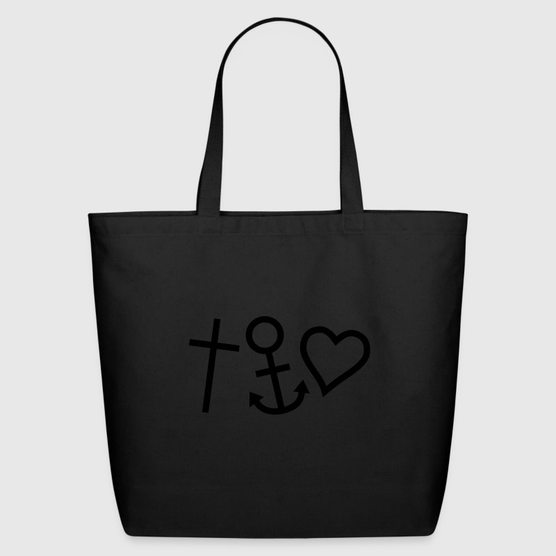 Black Love Hope Faith Happiness Bags  - Eco-Friendly Cotton Tote