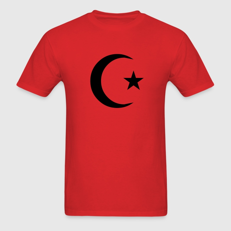 Red Crescent and Star T-Shirts - Men's T-Shirt
